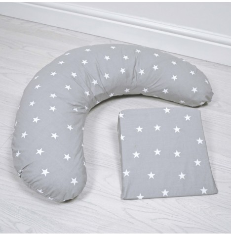 4baby 6 in 1 Pregnancy Support Pack - Grey / White Stars